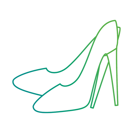 High heel shoes icon vector illustration design