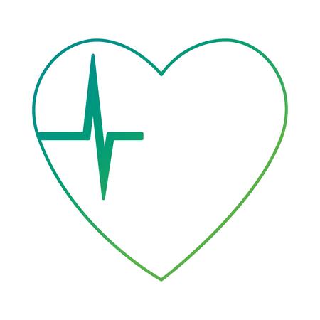 Heart cardio isolated icon design