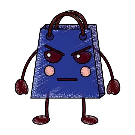 shopping bag character style vector illustration design drawing image Illustration