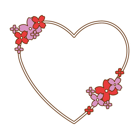 beautiful floral decoration with shape heart vector illustration design Stockfoto - 95776252