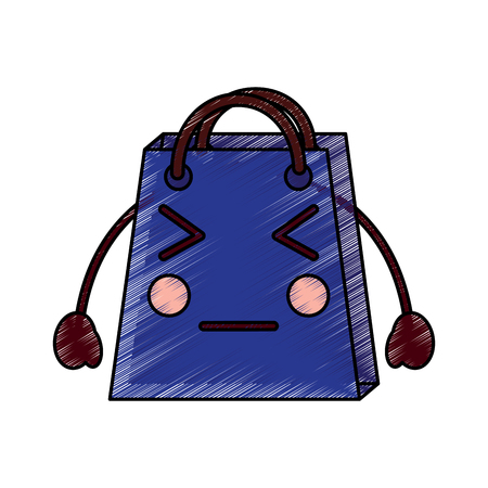 shopping bag character  style vector illustration design drawing image