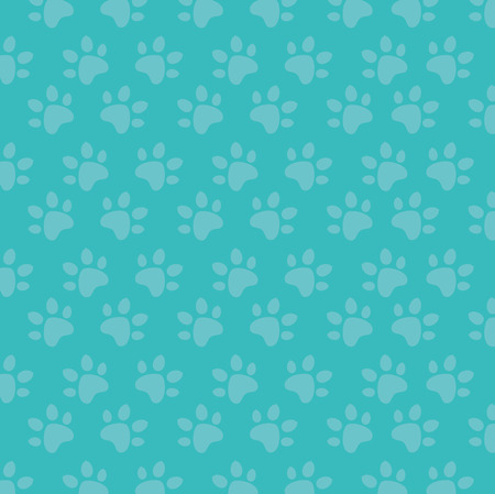 foot print paw mascot pattern vector illustration design