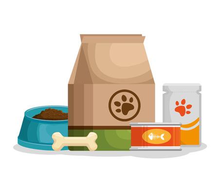 pet shop products set icons vector illustration design 일러스트