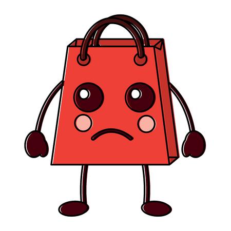 shopping bag character style vector illustration design