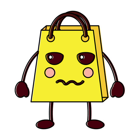 Shopping bag, indifferent character vector illustration design drawing image.
