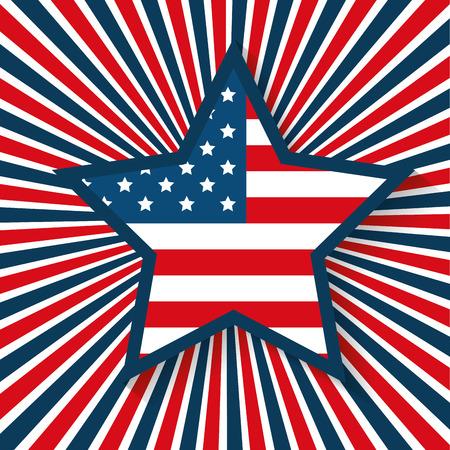 usa star emblem patriotic symbol vector illustration design