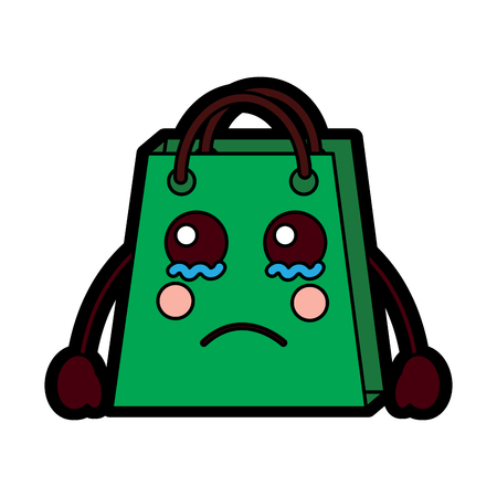 shopping bag character style vector illustration design