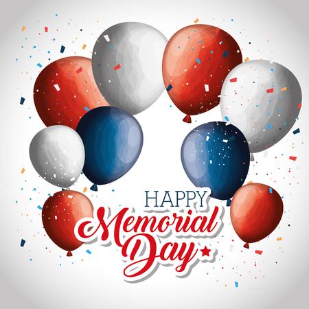 happy memorial day celebration vector illustration design Illustration