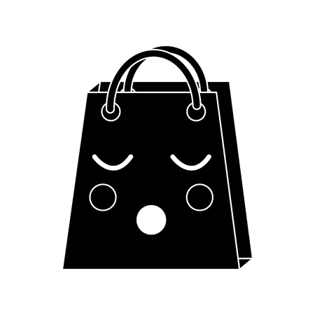 A sleepy black shopping bag character icon.