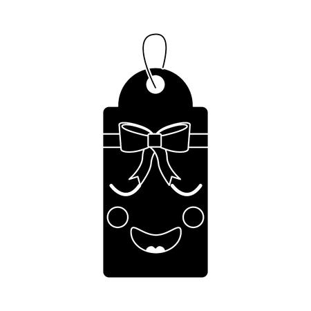 gift or price tag happy emoji icon image vector illustration.
