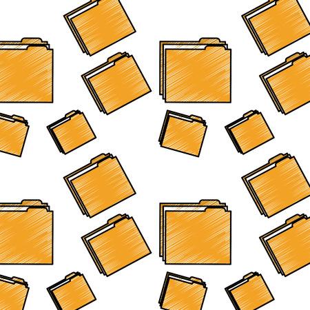 file folder pattern image vector illustration design  sketch style Illusztráció