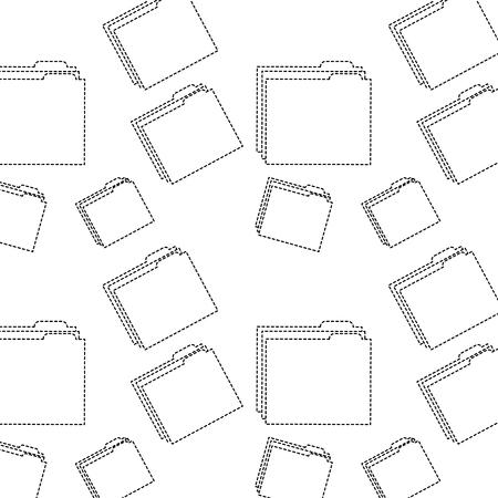 file folder pattern image vector illustration design  black dotted line