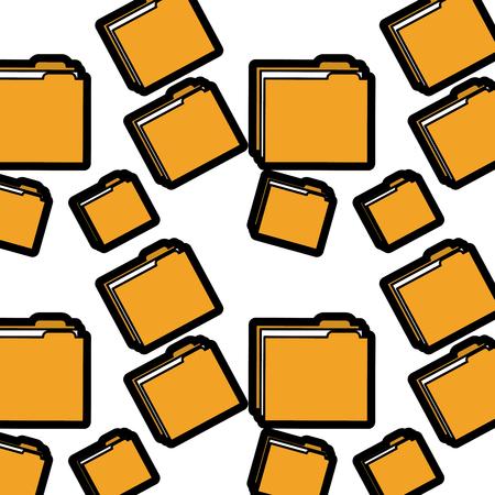 file folder pattern image vector illustration design  Illusztráció