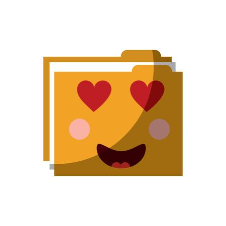 folder file document character vector illustration