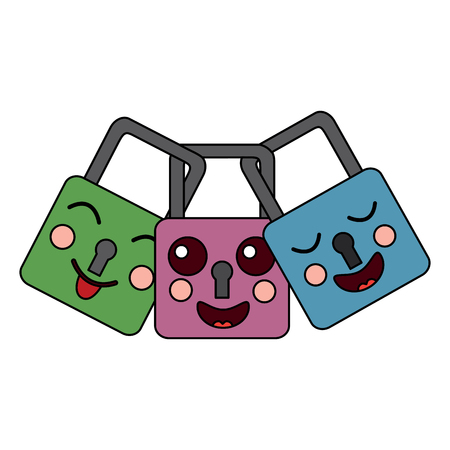 safety locks emoji icon image vector illustration design Illustration