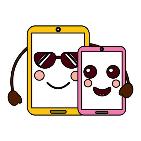 cellphones emoji icon image vector illustration design Illusztráció