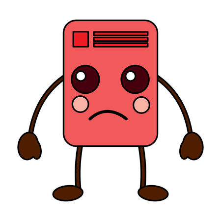 document sad emoji icon image vector illustration design Stock Vector - 95884090
