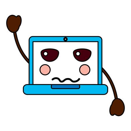 Angry computer cartoon image