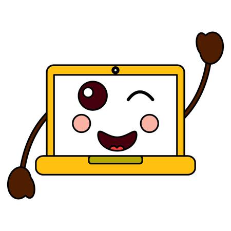 Happy computer image design Ilustração
