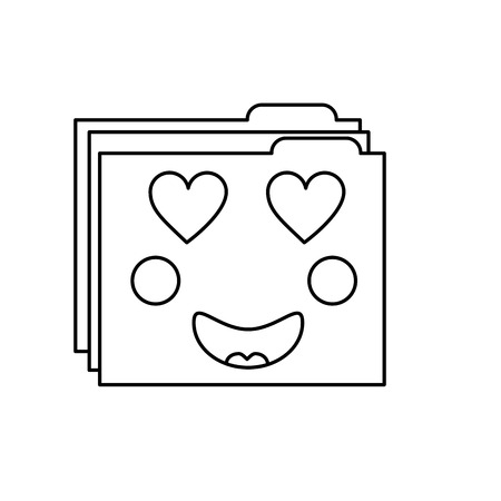 Inlove folder icon image Stock Vector - 95877058