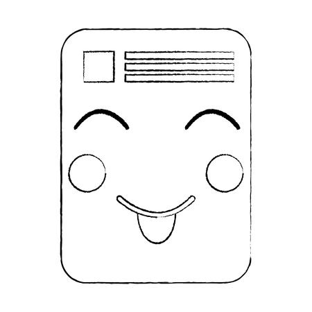 文字注記ベクトルイラストレーションスケッチ画像可愛いペーパードキュメント  イラスト・ベクター素材