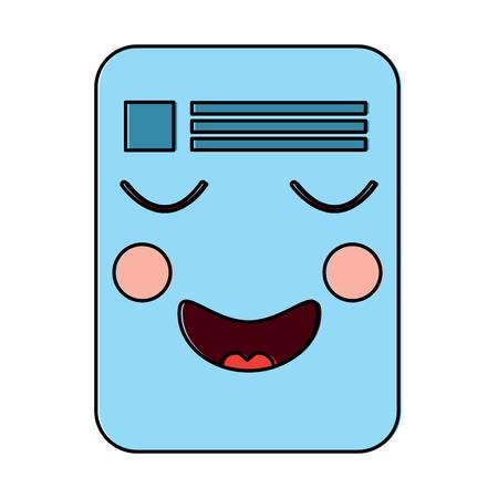 document happy emoji icon image vector illustration design