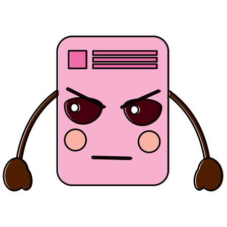 document angry  emoji icon image vector illustration design
