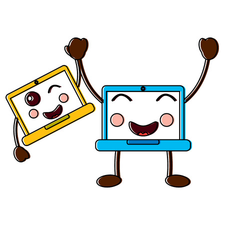laptop computers emoji icon image vector illustration design Illustration