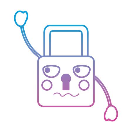 safety lock angry emoji icon image vector illustration
