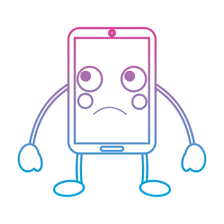 cellphone sad emoji icon image vector illustration