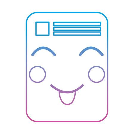 document happy emoji icon image vector illustration Stock Vector - 95884943