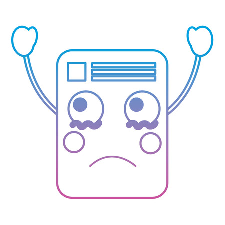 document sad emoji icon image vector illustration