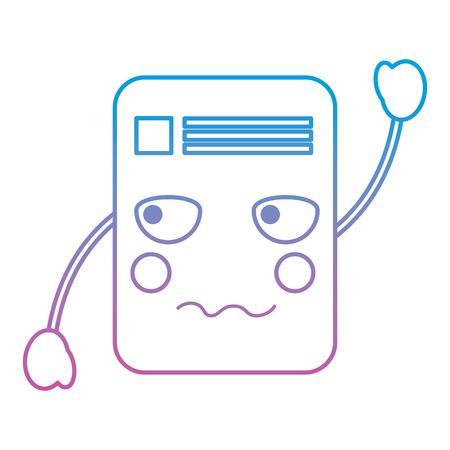 document angry emoji icon image vector illustration Illustration