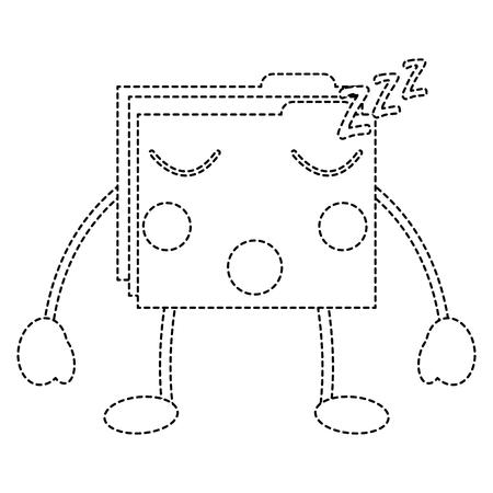 folder file document kawaii character vector illustration sticker design Stock Vector - 95815560