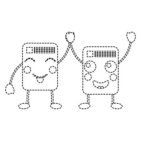 文字ノートベクトル可愛いイラストレーションステッカーデザインの紙文書
