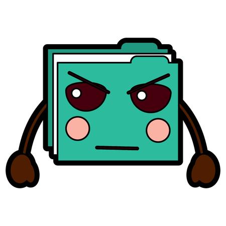 file folder angry emoji icon image vector illustration design