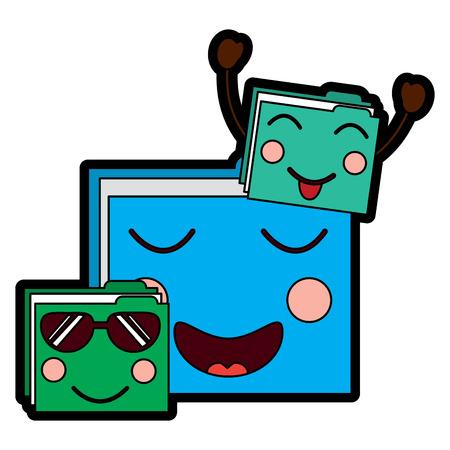 file folders emoji icon image vector illustration design