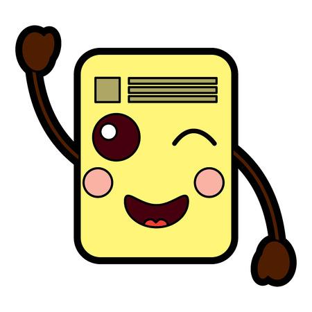 document wink  emoji icon image vector illustration design Banco de Imagens - 95885151