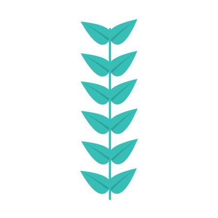 leaves with stem icon image vector illustration design  イラスト・ベクター素材