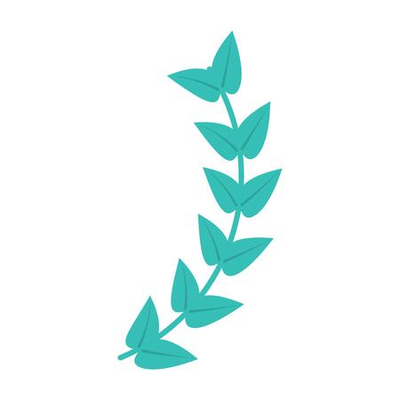 leaves with stem icon image vector illustration design Ilustração