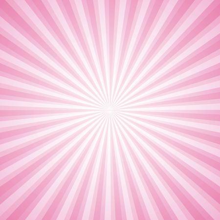 striped pink ray burst background vintage vector illustration Illustration