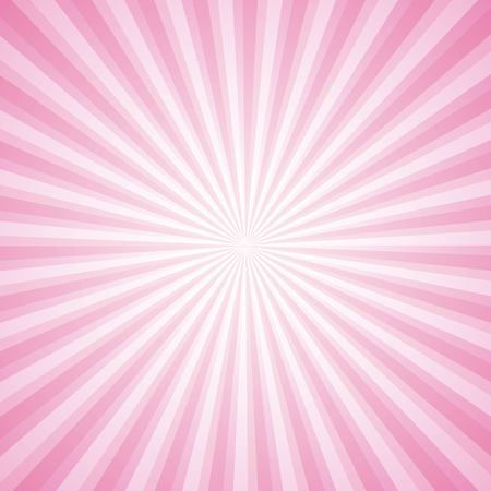 striped pink ray burst background vintage vector illustration Ilustração