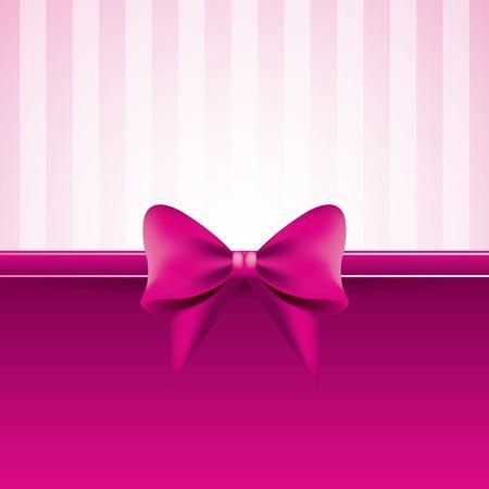弓縞模様の装飾ベクトルイラストとピンクの背景