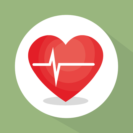 heart cardio healthy lifestyle vector illustration design