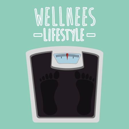 scale balance wellness lifestyle vector illustration design