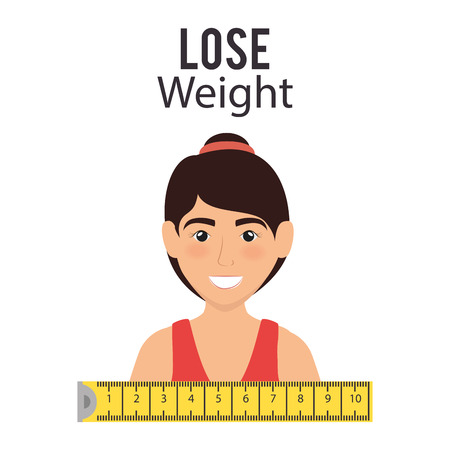 female athlete with tape measure vector illustration design 向量圖像