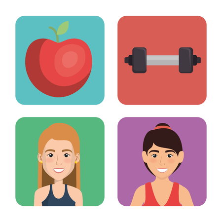 fitness and gym set icons vector illustration design Banque d'images - 95950276