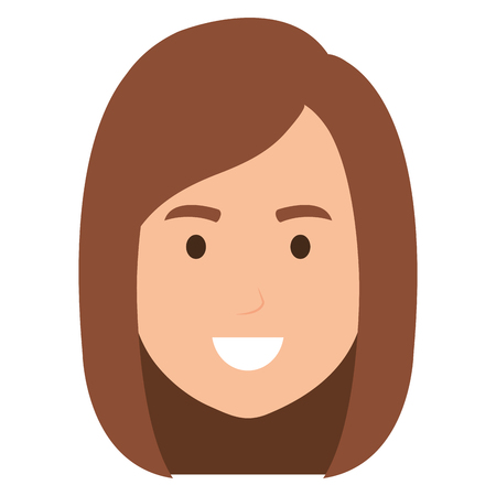 young head woman character vector illustration design