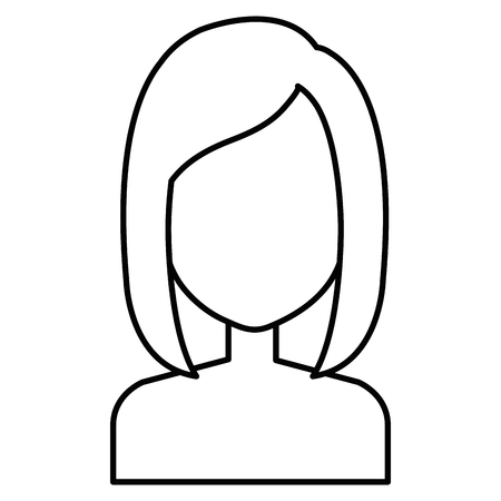 young woman shirtless character vector illustration design  イラスト・ベクター素材