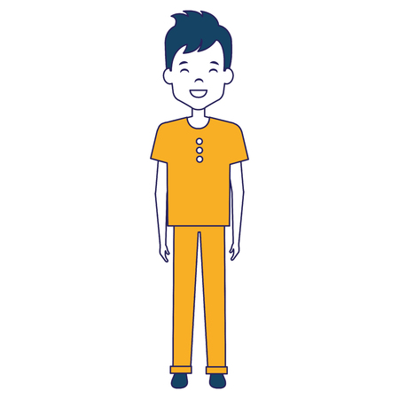 Young and casual man avatar character. Vector illustration design.